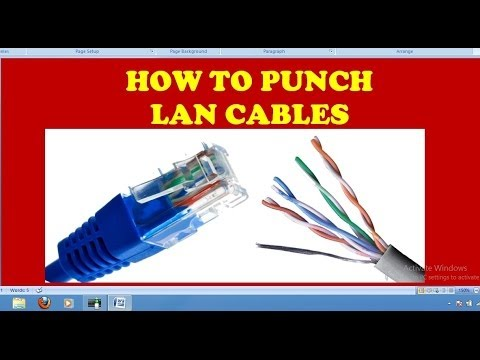 how to punch lan cable or wire
