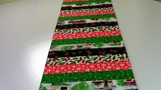 Christmas Jelly Roll Table Runner