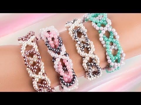 Ideen mit Herz - Perlen-Armband in Flechtoptik - Fädelanleitung - DIY Schmuck - Freundschaftsbänder