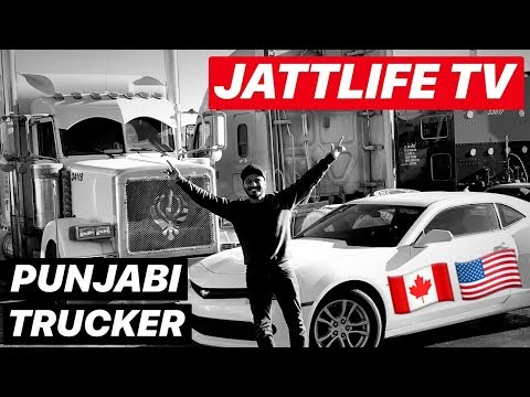 PUNJABI TRUCKERS GOING USA ON TRUCK FROM CANADA  JATTLIFE