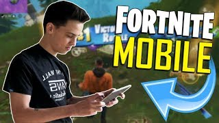 FAST MOBILE BUILDER on iOS / 475+ Wins / Fortnite Mobile + Tips & Tricks!