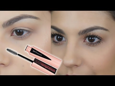 NEW Maybelline Total Temptation Mascara Demo & Review