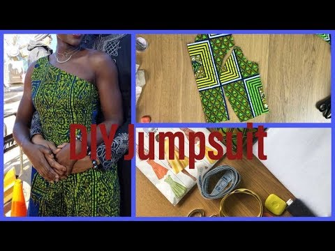 DIY Ankara Jumpsuit insped by Black Panter the movie 2018 part 1