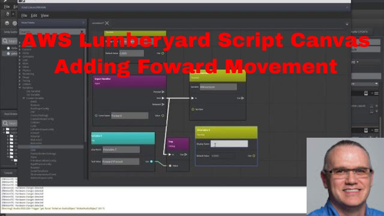 Lumberyard Script Canvas: Forward Movement