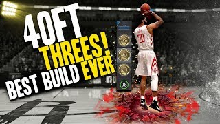 NBA LIVE 18 THE ONE STRETCH BIG | 40 FOOT THREES! MY BEST BUILD EVER!