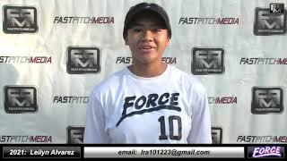 2021 Leilyn Alvarez 4.07 GPA - Athletic Outfielder Softball Skills Video - Fresno Force