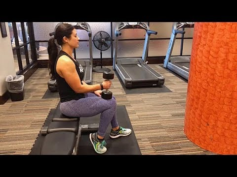 Seated Dumbbell Calf Raise