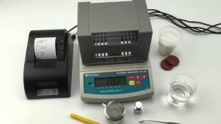 Demo video for operation rubber and plastic density meter,densimeter,specific gravity meter DH-300