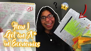 How I got an A* in Economics - Revision tips + Advice  // A-Level