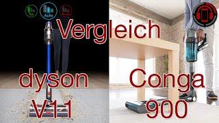 Dyson V11 vs Cecotec Conga Rockstar 900 - Review und Vergleich [Deutsch/German]