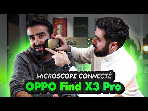 On test un microscope connecté mobile 5G avec option miroir (OPPO Find X3 Pro)