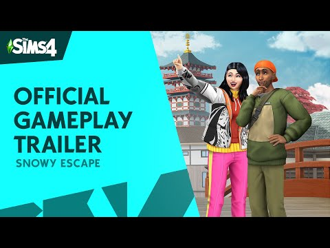 The Sims 4 Snowy Escape: Official Gameplay Trailer music video cover