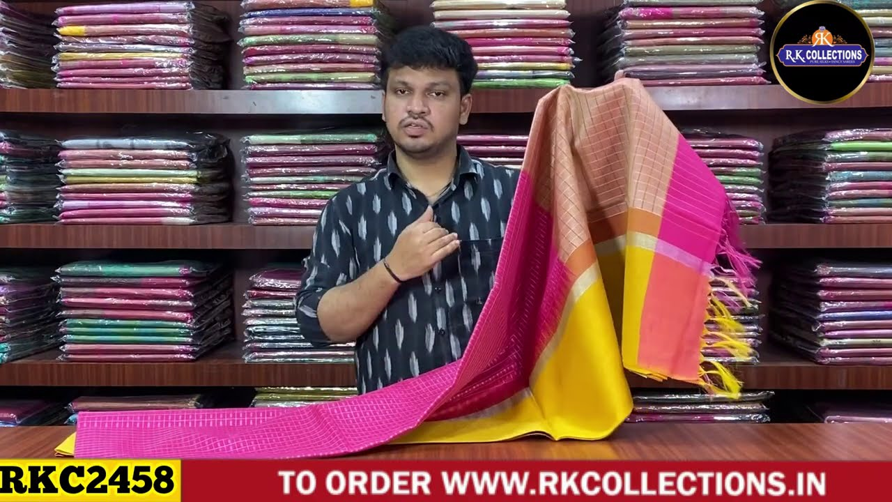 """<p style=""""color: red"""">Video : </p>latest Bailu Silk Sarees I Rkcollections I 2020-12-04"""