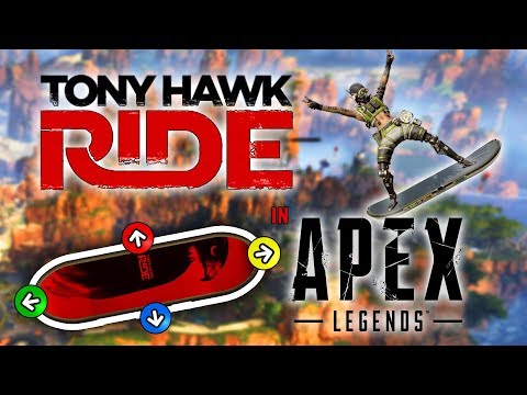 PLAYING APEX LEGENDS WITH A TONY HAWK RIDE Wii BOARD - Community Controllers #1