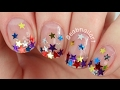 Crazy Star Glitter Gradient Nail Art