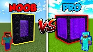 Minecraft NOOB vs. PRO: PORTAL in Minecraft!