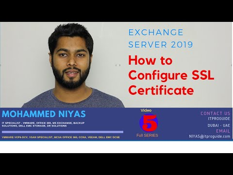 How to configure SSL Certificate for Exchange Server 2019 / 2016 ...