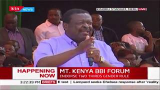 Mudavadi commends Uhuru\'s recent action in regards to Coronavirus MT. KENYA BBI FORUM