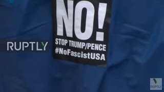USA: Protesters rally against Trump