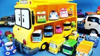 Robocar Poli School Bus Carrier mini car toys