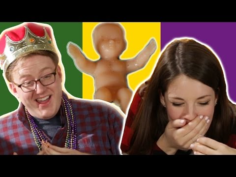 People Eat King Cakes For The First Time