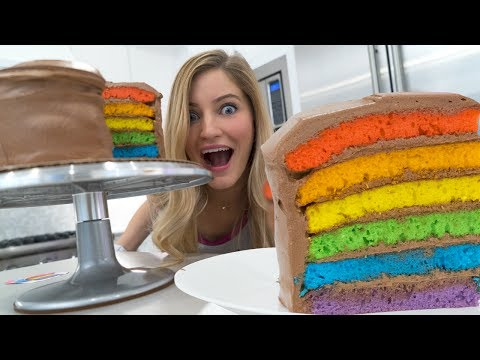 🌈 How to make a Rainbow Cake!