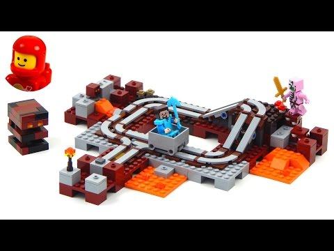 brinquedo de montar lego minecraft ferrovia do nether 21130. Carregando  zoom. 7e06a11c06