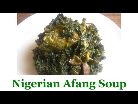 Nigerian Afang Soup   All Nigerian Recipes