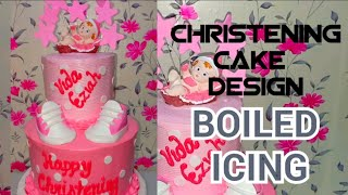 CHRISTENING CAKE DESIGN | BOILED ICING | Chochon Cakes