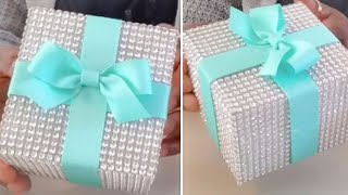 DIY| TIFFANY INSPIRED BLING AND GLAM WEDDING BOX | BEAUTIFUL WEDDING DECOR IDEA!