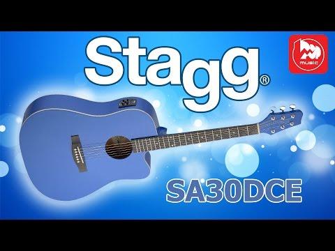 Đàn Guitar Acoustic Stagg SA30DCE-BK (Dáng khuyết)