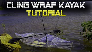 How To Make A Budget PVC Fishing Kayak cheap Plastic Wrap