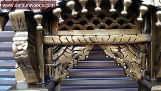 #71 Rajasthani Rajwada Style Jharokha In Antique Gold   Wooden Handicrafts@Aarsun - Art Of India
