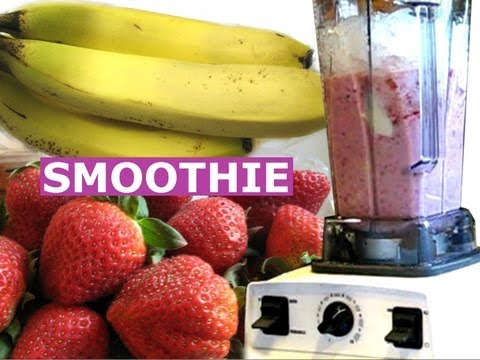 Video How To Make Strawberry Banana Smoothie A Healthy Milk Shake Drink Quick Recipe Jazevox HomeyCircle