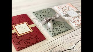 How To Make Wedding Invitations - 3 Different Ideas