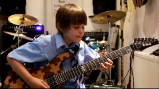 Kid guitarist Harry plays Buck Rogers by Feeder