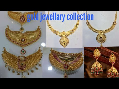 #my gold jewellary//mini haram//gold necklace//and gold earings with weight