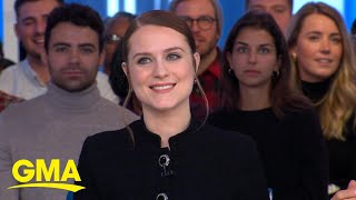 Evan Rachel Wood shares her 6-year-old son's review of 'Frozen 2' l GMA