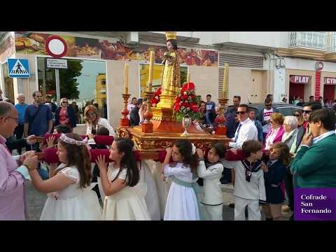 El Niño Jesús de Praga procesiona por la feligresía del Carmen