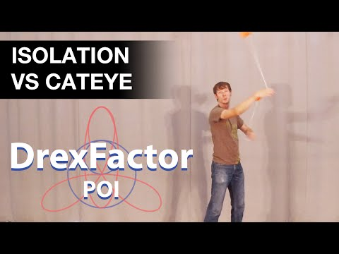Intermediate Poi Spinning Tutorial: Isolation Vs Cateye