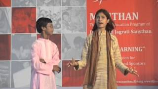 Enlightening Skit by students of Manthan SVK @ Joy of Learning Annual Event