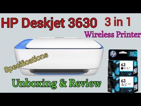 HP Deskjet 3630 Printer Unboxing & Review