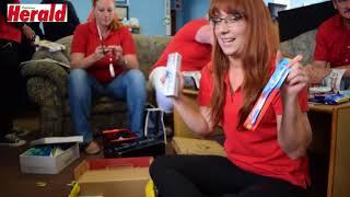 The Potch Herald Team make Santa Shoeboxes for 2017