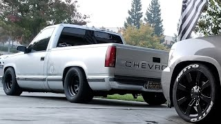 90' Chevy c1500 on 295s coopers