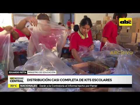 Distribución casi completa de Kits escolares