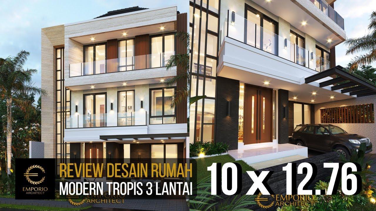 Video 3D Mrs. Swan Modern House 3 Floors Design - Surabaya