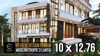 Video Desain Rumah Modern 3 Lantai Ibu Swan di  Surabaya