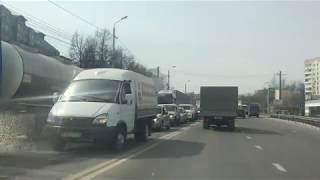 Пробка на ул. Рязанской в Туле