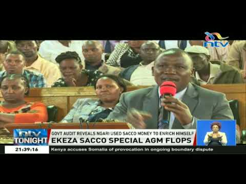 Meeting in Kasarani turned chaotic as Ekeza sacco members demand refunds