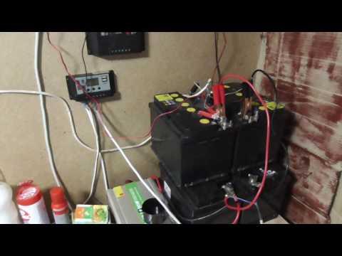 Солнечная электростанция для дачи,система 24 вольта ПЕРВЫЕ КОСЯКИ
